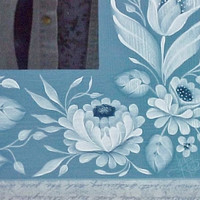 Hand Painted Ikea Mirror White Strokework on by ToletallyPainted