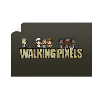 The Walking Pixels Wall Decal