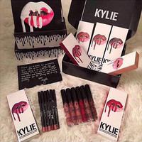 Kylie Jenner lip gloss red liquid mat kit assemblies lips with matte lips lipgloss & Kylie Jenner Kylie lip lipstick kit
