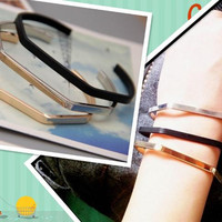Fashion open bangle for women,minimalist and elegant adjustable bangle,3 colors available,perfect gift for women