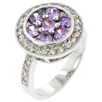 Amethyst Purple Lily Ring, size : 10