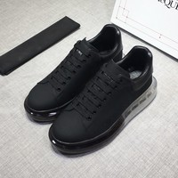 McQueen  Man Fashion Casual Shoes Men Fashion Boots fashionable Casual leather Breathable Sneakers Running Shoes Sneakers