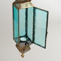 Extra-Large Teal Kamali Hanging Lantern | World Market