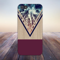 Violet Forest x Navy Chevron Wood Design Case for iPhone 6 6 Plus iPhone 5 5s 5c iPhone 4 4s Samsung Galaxy s5 s4 & s3 and Note 4 3 2