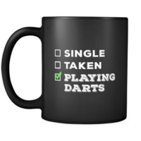 Darts Single, Taken Darts 11oz Black Mug