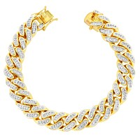 Designer 14mm Heavy Miami Cuban Iced Out Bracelet