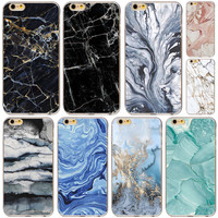 """Funda Coque Landscape Pattern Phone Case Cover For iPhone 6 6s 4.7"""" New Fashion soft silicon Marble Image Back Case Capa Para"""