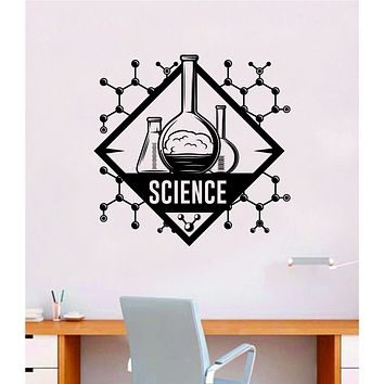 Science V2 Quote Wall Decal Sticker Vinyl Art Home Room Decor Teacher School Classroom Smart Learn Chemist Nursery