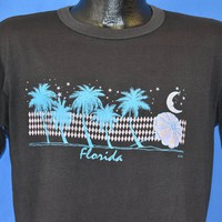 80s Florida Beach Night Moon Stars Palms t-shirt Large