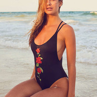 Out From Under Printed Scoop Back One-Piece Swimsuit | Urban Outfitters
