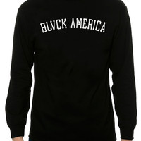 The Blvck America LS Tee in Black and White