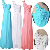 Grace Karin Chiffon Dresses Blue/Pink/White Wedding Gown Long Bandage Celebrity Party Evening Dress Prom Gowns = 1932296836