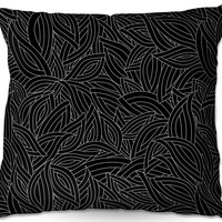 Outdoor Pillows By Julia Grifol Black Leaves