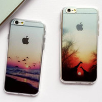 Seagull Giraffe Case Cover for iPhone 6 6s Plus Gift 230