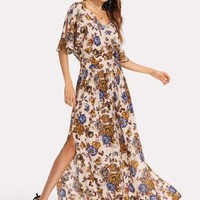Blooming with Love Floral Maxi Dress