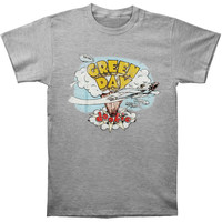 Green Day Men's  Dookie T-shirt Grey Rockabilia