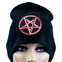 Pentagram Star Beanie Knit Cap