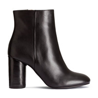 Leather Ankle Boots - from H&M