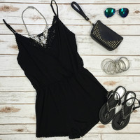 Secret Treasure Romper: Black
