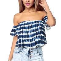 Tye Dye Summer Flounce Crop Top