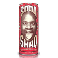 Arizona Shaq Strawberry Cream Soda 23 Oz Big Cans Pack of 24