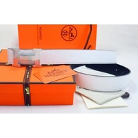 Hermes Women or Men Fashion Smooth Buckle Leather Belt