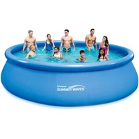 """Summer Waves 18' x 48"""" Quick Set Round Above Ground Swimming Pool with Deluxe Accessory Set - Walmart.com"""