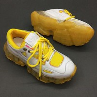 Balenciaga Triple-S Dad Torre Sneakers Yellow Women Trainers Fashion Casual Sports Running Shoes