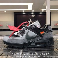 Off-White x Nike Air Max 90 sports shoes Sizeï¼?6-45