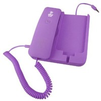 Pyle Home PIRTR60PUR Handheld Phone and Desktop Dock for iPhone - Desktop Charger - Retail Packaging - Purple (Discontinued by Manufacturer)