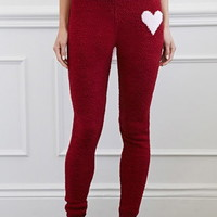 Chenille Heart Lounge Pants