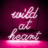 "KUKUU Beer Neon Sign Wild at Heart for Bar Bedroom Garage Game Room 12""x 9.8"" (Pink)"