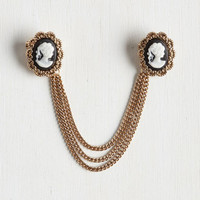 French Antiquing Enthusiast Collar Pin by ModCloth