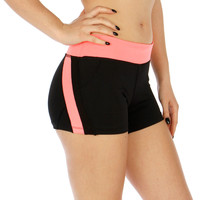 Colorblock Zipped Pocket Active Shorts in 3 Colors