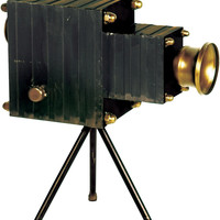 "0-018012>12""h Portrait Camera Camera Black/Gold"