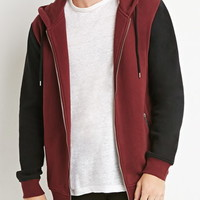 Zippered Colorblock Hoodie