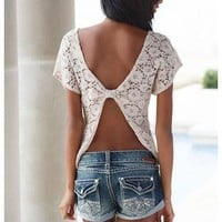 CROCHET OPEN BACK TOP