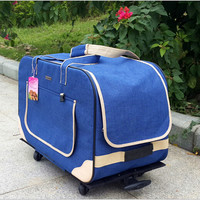 Waterproof Windproof Safe 62*35*39cm Pet Dog Travel Carrier Portable Dog Trolley Bag for Outdoor Travel Pad 1573