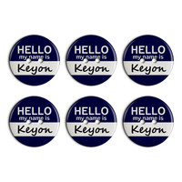 Keyon Hello My Name Is Plastic Resin Button Set of 6