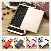 Verus For Iphone 6S edge Plus Slide case Hybrid VERUS For iPhone 6 Card Slot Wallet ID cover shell For iPhone 6 F001
