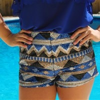 Shine Bright Shorts - Blue