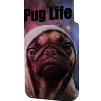 Best 3D Full Wrap Phone Case - Hard (PC) Cover with Funny Pug Life On Galaxy Design