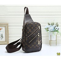 Louis Vuitton LV Fashion Leather Daypack Backpack Bookbag Satchel 1#