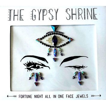Gypsy Shrine Third Eye Face Jewels Fortune Night All In One Stick On Faceted Aurora Borealis Stones Crystals Rhinestones