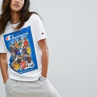 Champion Oversized T-Shirt With Retro Athletes Graphic at asos.com