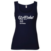 Harry Potter Inspired Clothing -  Gryffindor Values Semi-Fitted Tank - Ladies