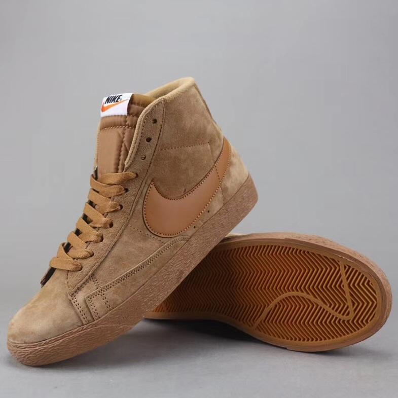 Image of Trendsetter Nike Blazer Mid Suede Vntg  Women Men Fashion Casual  Old Skool High-Top Shoes
