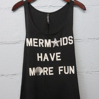 Be A Mermaid Top: Black