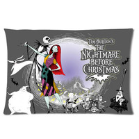 Tim Burton Nightmare For Christmas Personalized Pillowcase Cover With Front And Back Pictures B