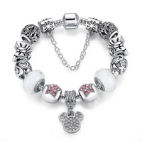 Mickey Mouse Disney European Charm Bracelet